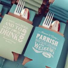 wedding koozie how creative is this to display koozies at a wedding great