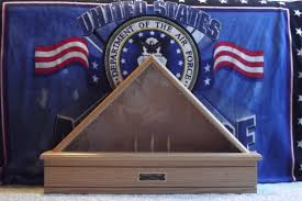 Military Funeral Flag Presentation Handmade Customized Classic Oak Flag Display Case By Ziegler