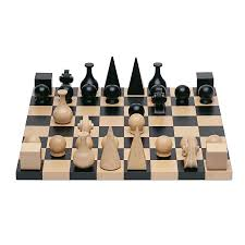 Wooden Chess Set by Man Ray Modern Art Chess Gift Set Man Ray Wooden Chess Board