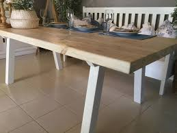 Chunky Rustic Dining Table Rustic And Chunky All Wood Dining Table Sand Interior