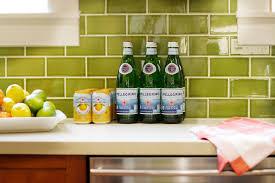 green subway tile kitchen backsplash traditional kitchen bathroom with craftsman influences kari