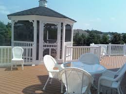 Decks With Attached Gazebos by Maryland Gazebo Contractor North American Deck And Patio
