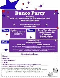 bunco party 2017 relay for bunco party waukegan