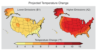 Temperature Map Usa by Projected Temperature Change U S Climate Resilience Toolkit