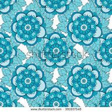 seamless pattern flowers vector organic ornament stock vector