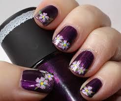35 dark purple nail art design ideas