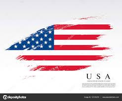 Flags Made In Usa American Flag Made In Brush Stroke U2014 Stock Vector Igor Vkv