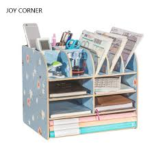 Corner Desk Organizer Paper Storage Trays Desk Organizer Tray Desktop Magazine Holder