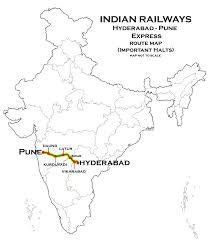 Hyderabad Map Pune Hyderabad Map