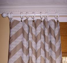 window treatment burlap chevron curtains burlap
