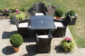 paris 4 seater square rattan dining set
