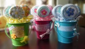 unique baby shower favors washcloth lollipop pail unique baby shower gifts and favors