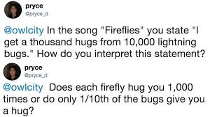 Give Me A Hug Meme - owl city responds to hugged by 10 000 fireflies meme know your