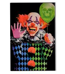 Halloween Black Light by Evil Clown Blacklight Poster By Opticz