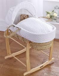 Baby Moses Basket Bedding Set Infant Moses Basket Cover Set White Embroidery Bassinet Bedding