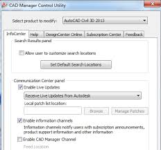 design center cad being civil how to disable communication center