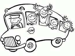 bus 25 transportation u2013 printable coloring pages