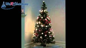 5 ft pre lit fibre optic tree with warm white led