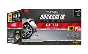 rust oleum rocksolid polycuramine 2 5 car garage floor coating