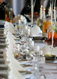 table setting at a luxury wedding reception stock photo picture