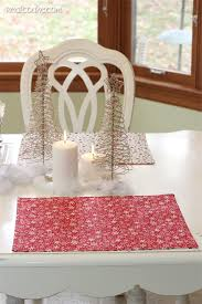 how to make reversible placemats tutorial