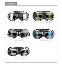 colorful lenses classic scooter motocross universal motorcycle windproof helmet scooter goggles black