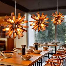 Modern Pendant Lighting Discount Fashion Modern Pendant Light European Simple Wood Cone