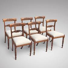 William Iv Dining Chairs Set Of 6 William Iv Satin Birch Dining Chairs U2013 Hobson May Collection