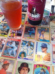 baseball card bar top with the baseball bat bar sports bar