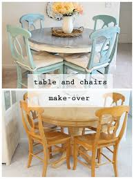 Kitchen Incredible  Best Painted Chairs Images On Pinterest Home - Painting a kitchen table