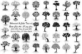 whimsical celtic trees ai eps png illustrations creative market