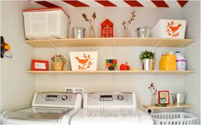 laundry storage ideas add shelving to unused corners laundry room