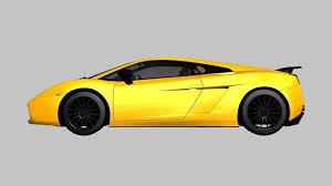 lamborghini gallardo superleggera yellow lamborghini gallardo superleggera 3d asset cgtrader