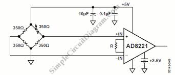 ad8221 precision strain gage lifier simple circuit diagram