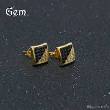 s mens earrings 2018 hiphop men s earrings gold plated diamond jewelry