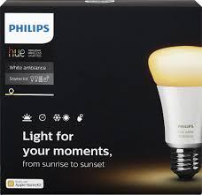 philips hue white ambiance a19 starter kit white 460989 best buy