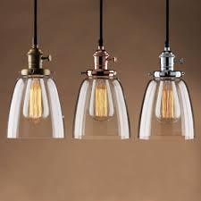 Track Light Pendant Kitchen Glass Pendant Kitchen Lights Ceiling Fixtures Chrome