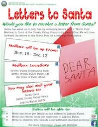 letters to santa mailbox the city of laguna niguel website