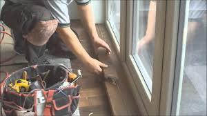 hardwood floor nosing installation to the bay window