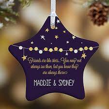 personalized christmas ornaments friends are like stars 1