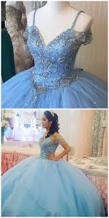 blue quincea era dresses cheap prom dresses sparkly beading bodice blue quinceanera dress