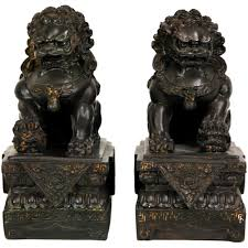 foo dog statues furniture 9 in foo dog decorative statues set of 2 sta