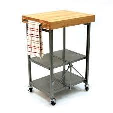 origami folding kitchen island cart butcher block kitchen cart