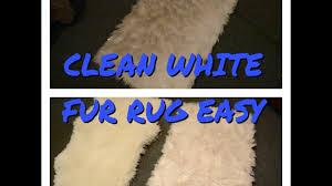 Faux White Sheepskin Rug Clean White Faux Fur Rug Easy Youtube