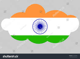 The Flag Of India Illustration Flag India Shape Cloud Stock Illustration 143773024