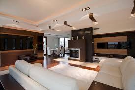 Led Tv Table Modern Modern Living Room Design Dark Brown Laminated Wooden Cabinet Led