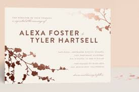 foil wedding invitations 21 gorgeous gold foil printed wedding invitations