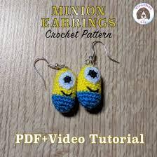 minion earrings minion crochet earrings us version crochet pattern by crochetwithlir
