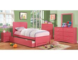 pink modern youth bed
