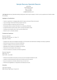 Environmental Specialist Resume Loan Specialist Resume Free Resume Example And Writing Download